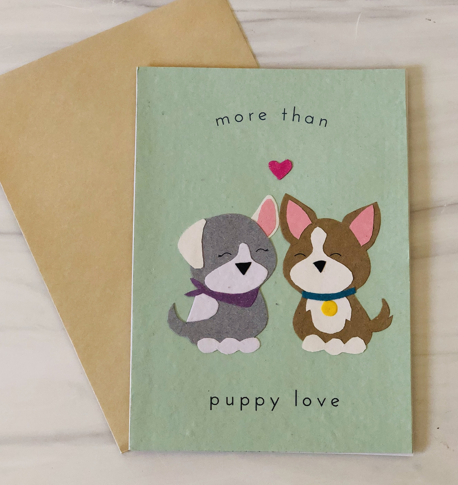 Puppy Love, Blank Greeting Card