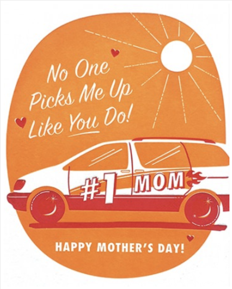 Pick Me Up, Mother's Day, Blank Greeting Card