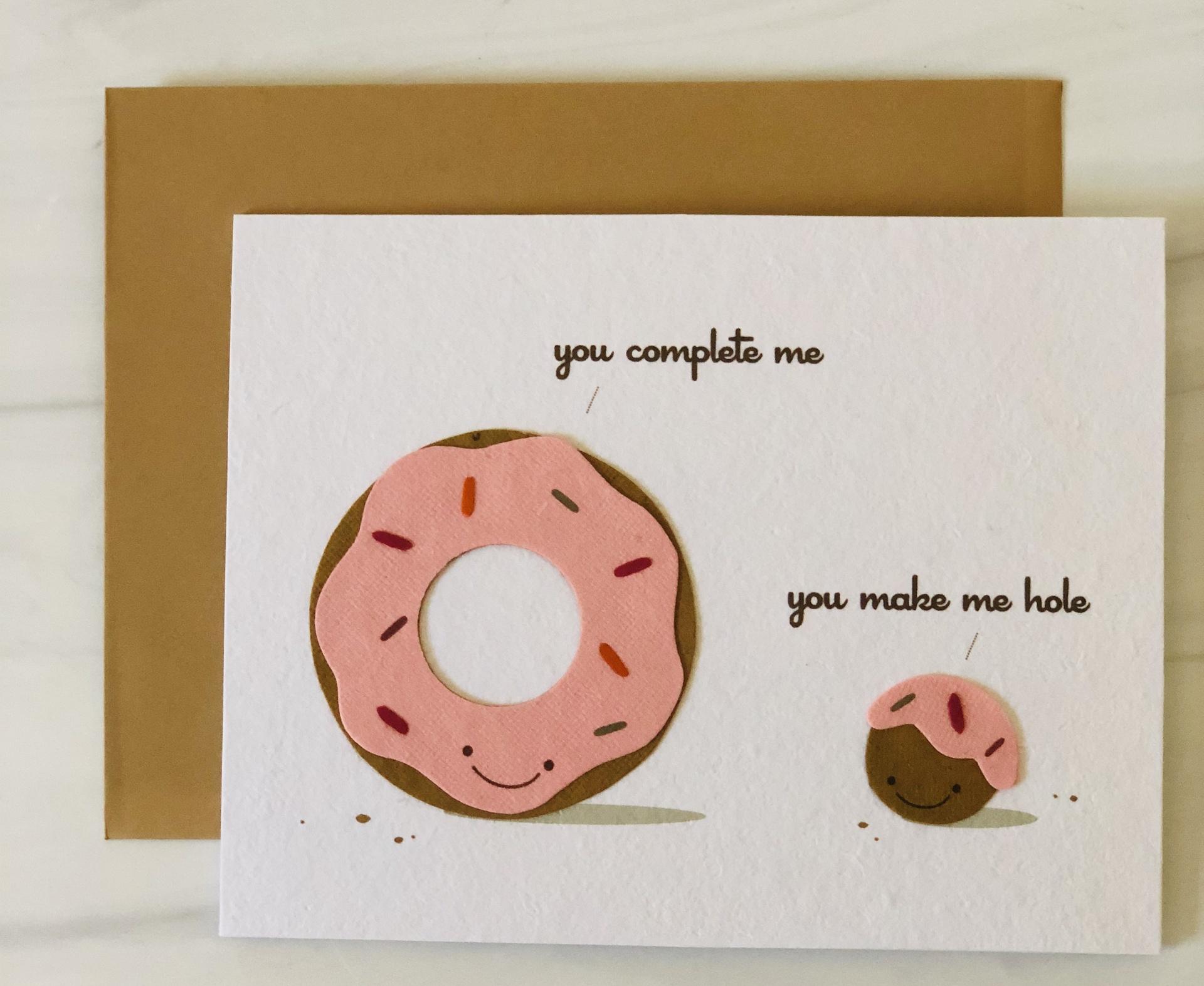 Donut & (W)hole, Blank Greeting Card
