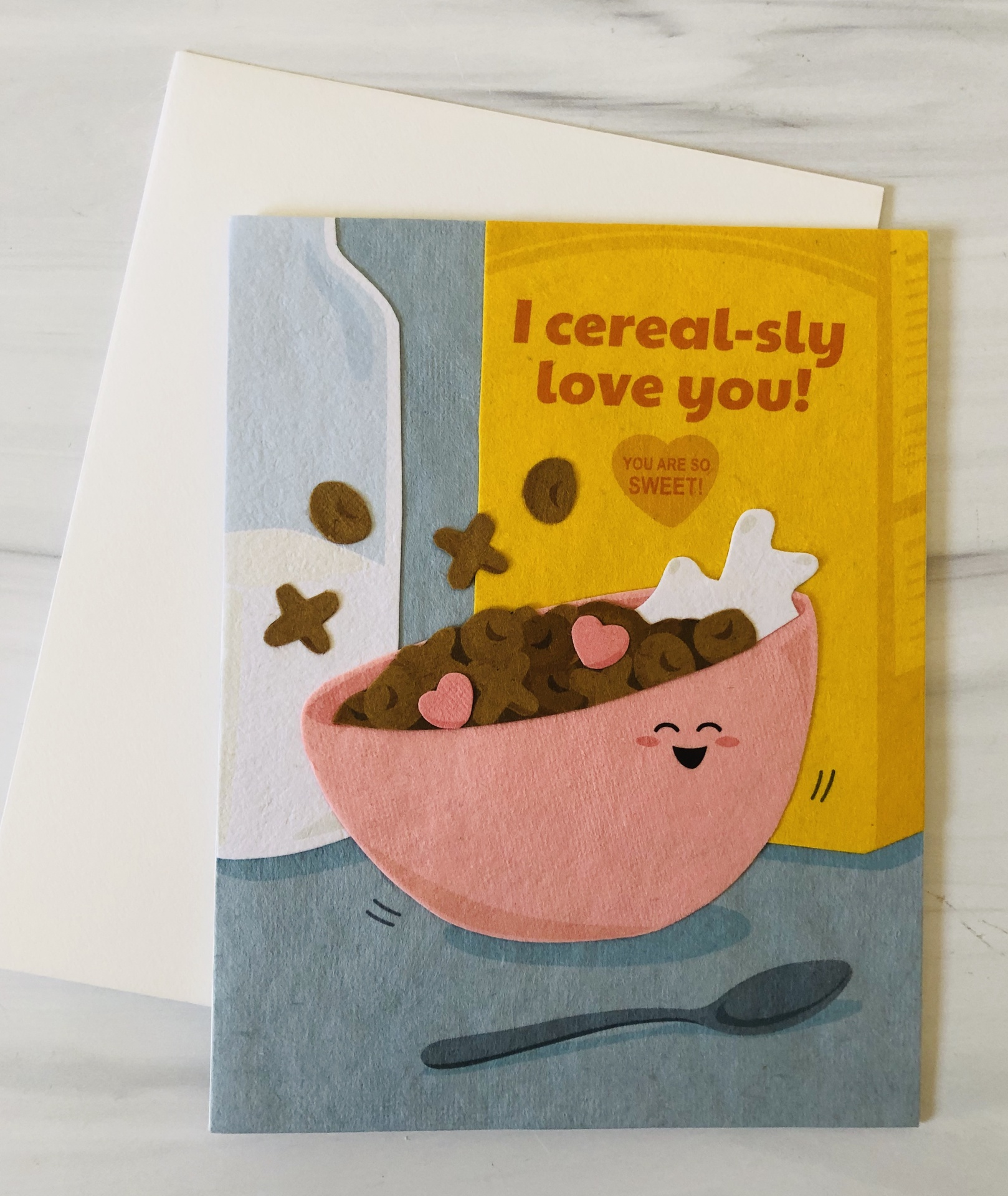 Cereal Love, Blank Greeting Card