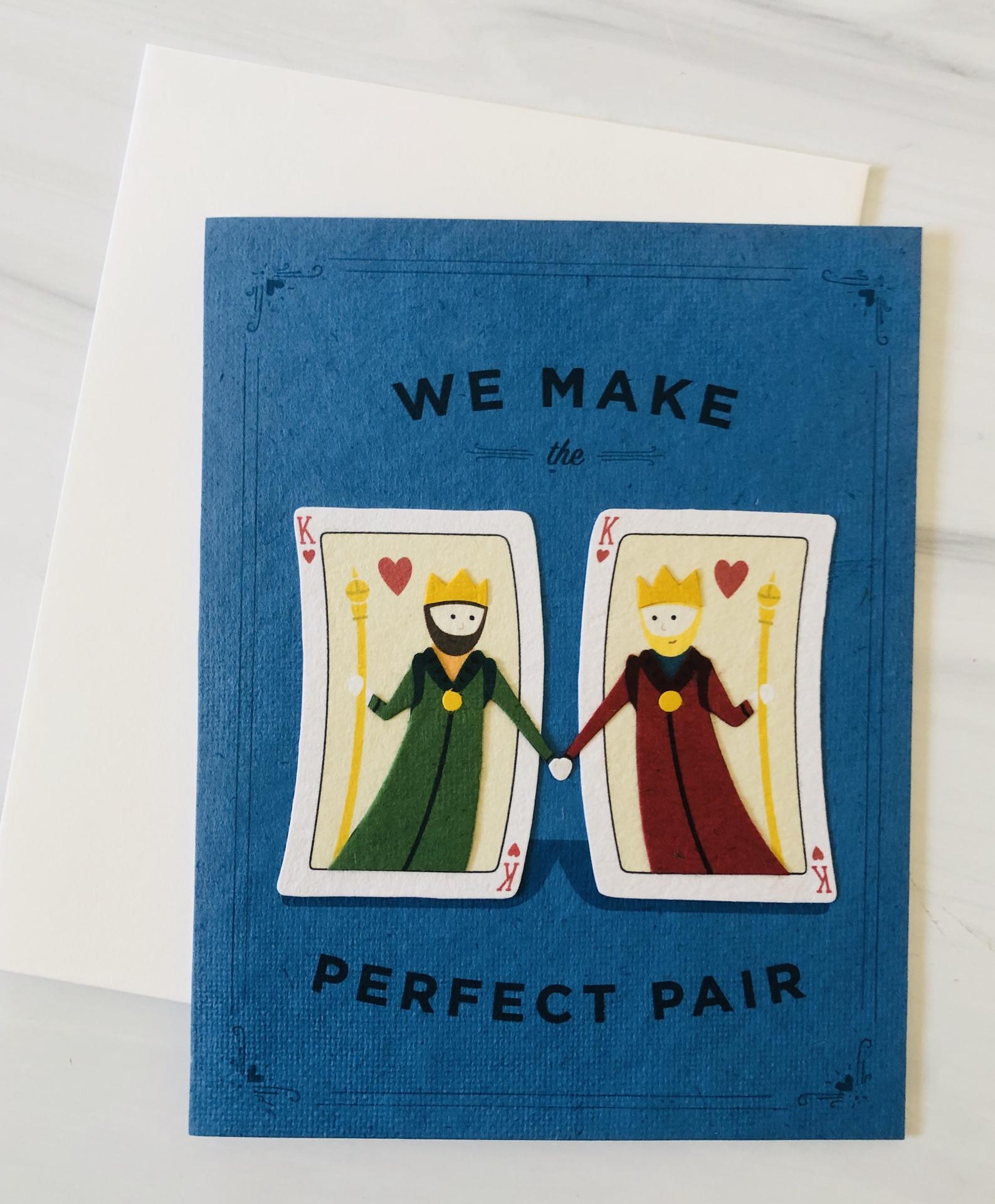 Perfect Pair of Kings, Blank Greeting Card