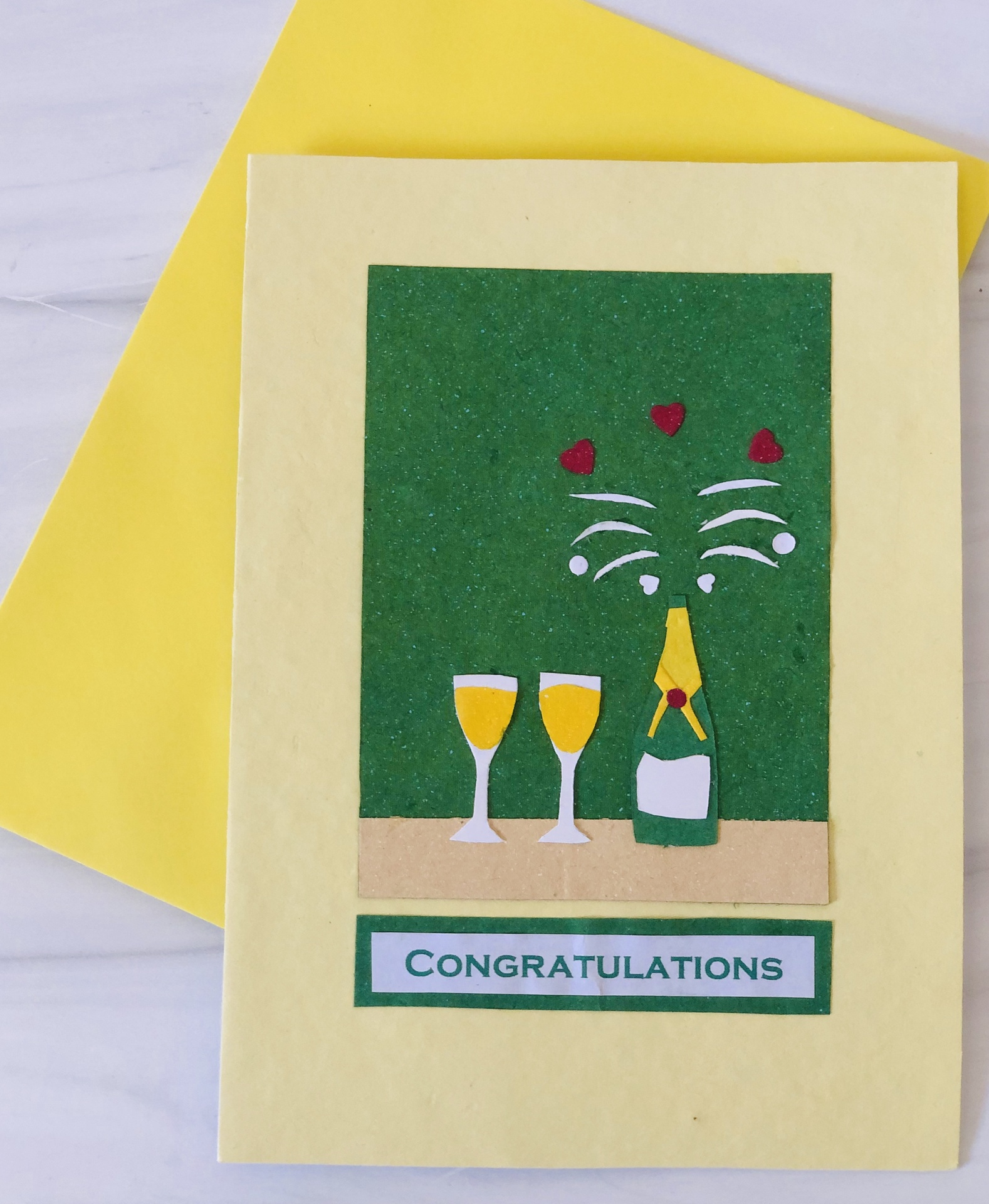 Champagne Congrats, Blank Greeting Card