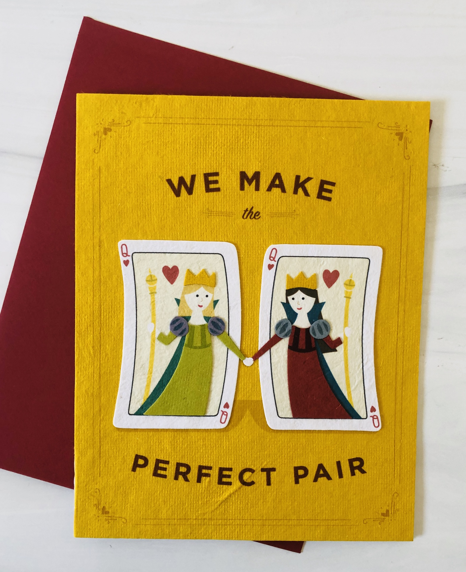 Perfect Pair of Queens, Blank Greeting Card