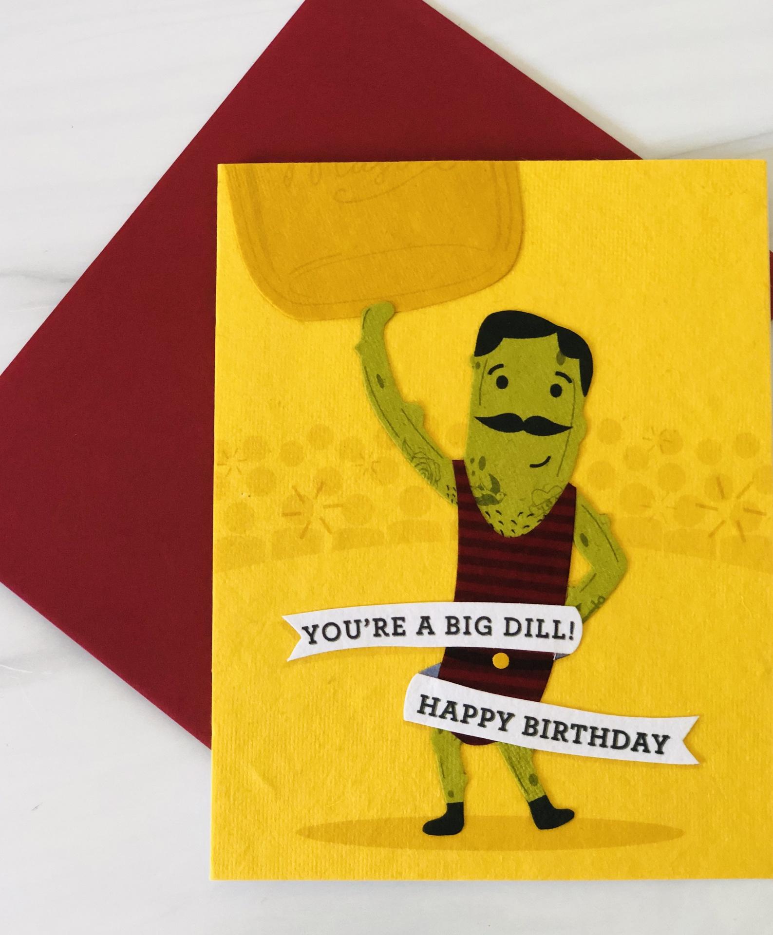 Big Dill, Blank Greeting Card