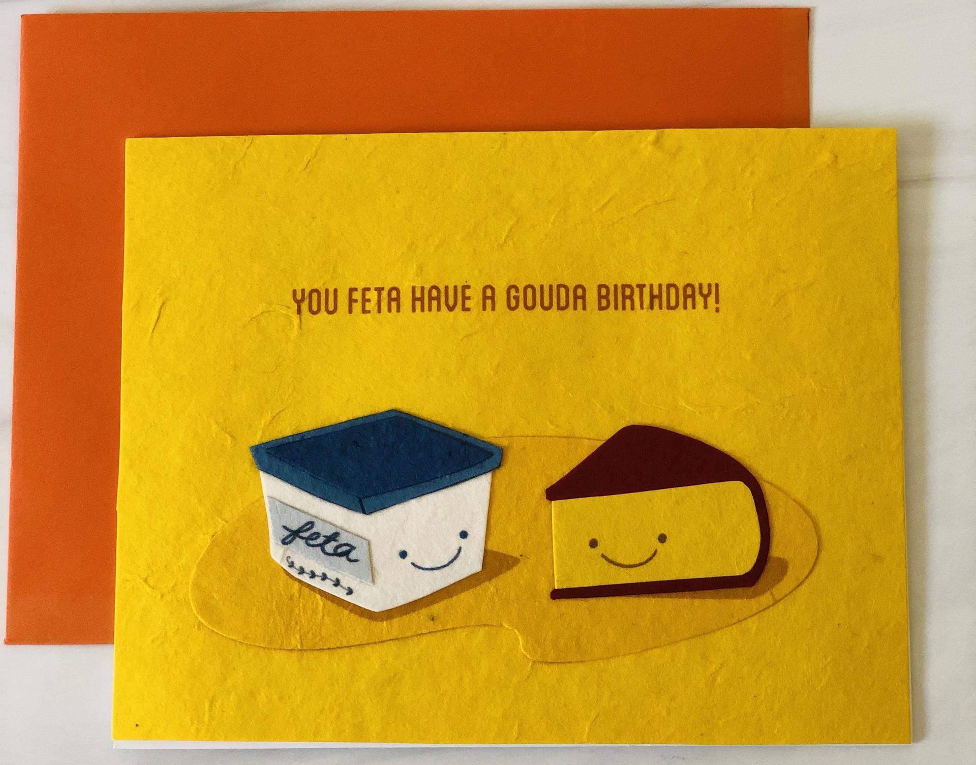 Cheesy Birthday, Blank Birthday Card
