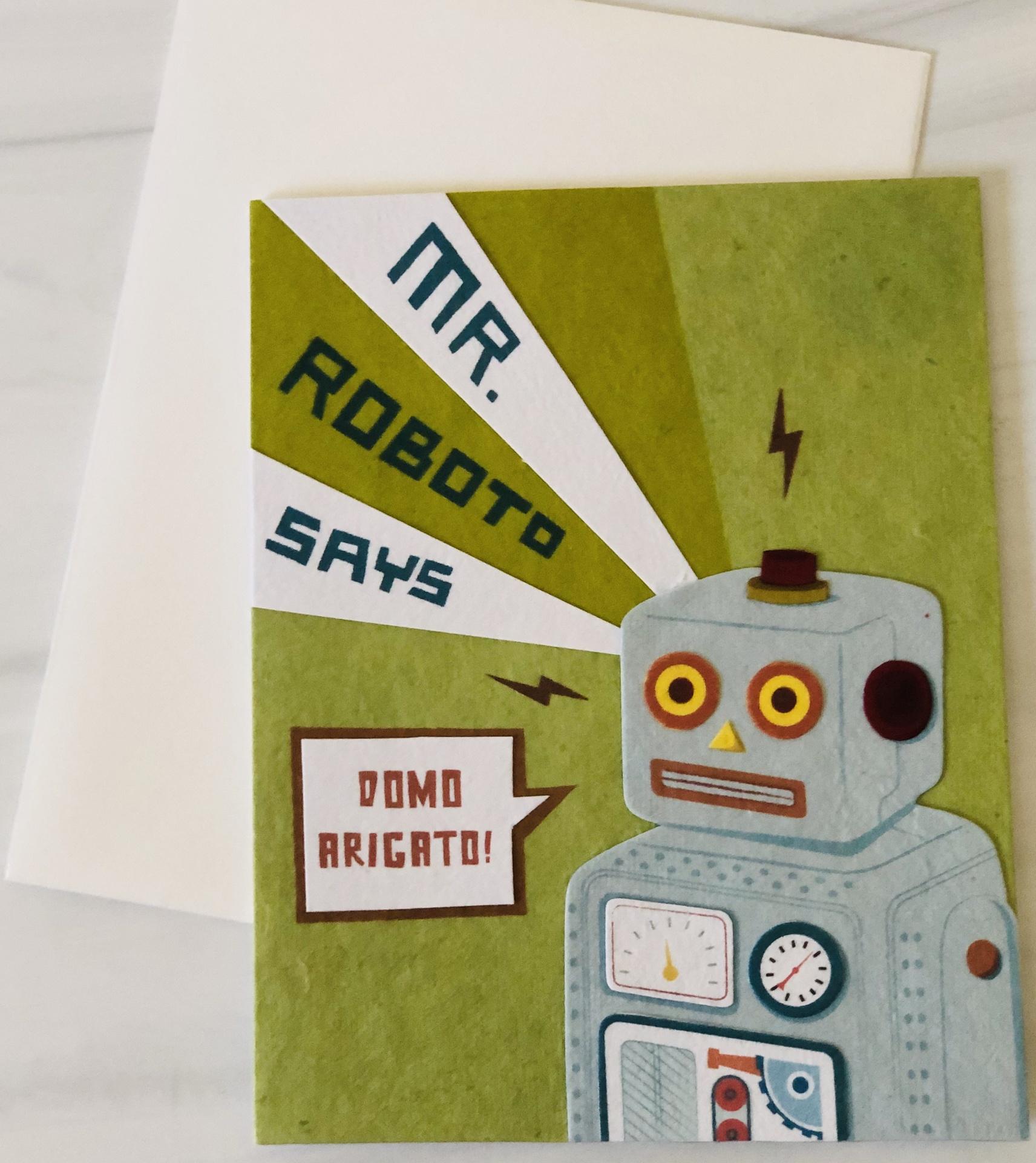 Mr Roboto, Blank Greeting Card