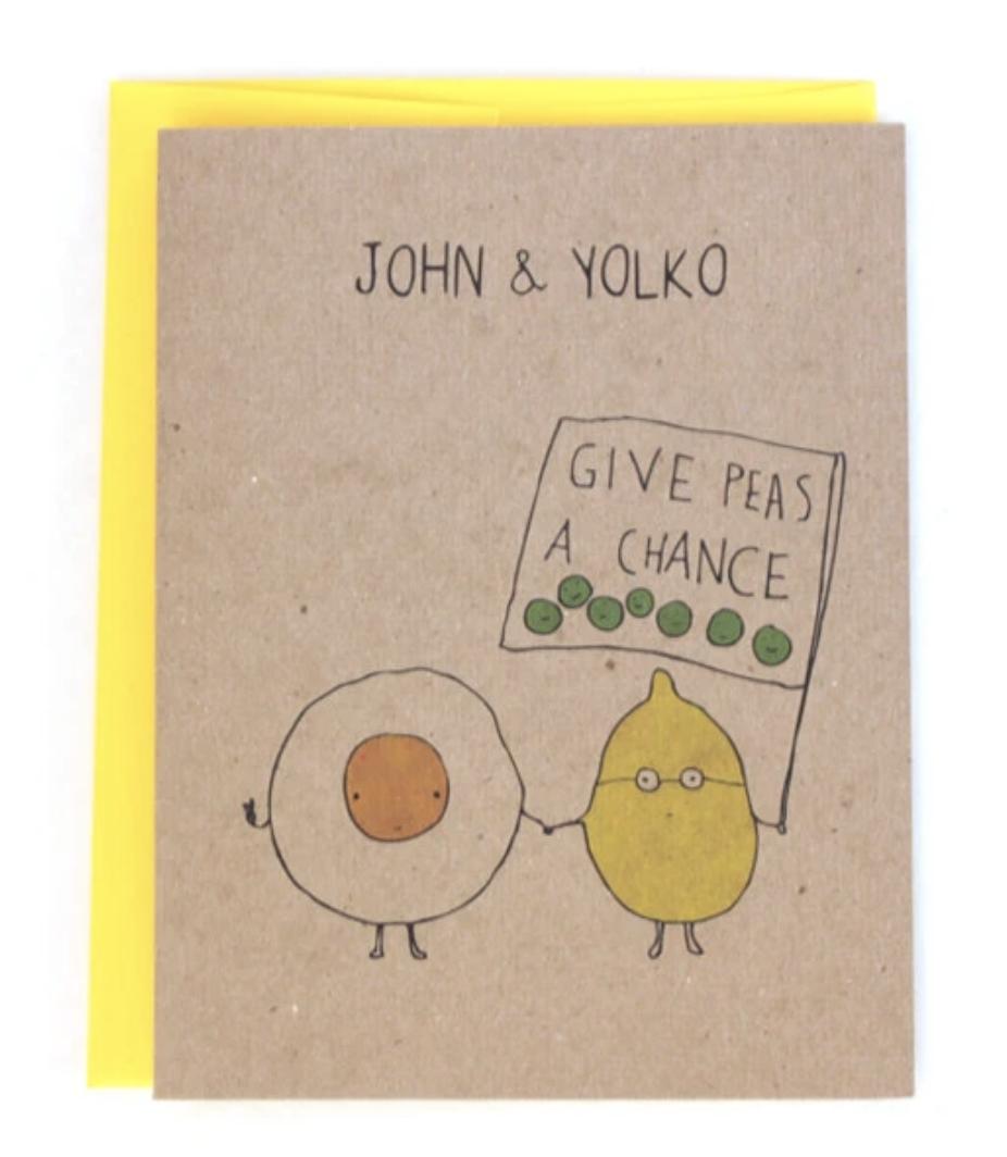 John & Yolko, Blank Greeting Card
