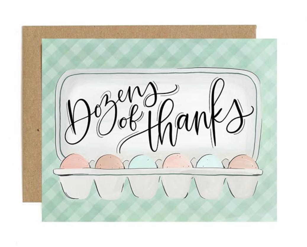 """Dozens of Thanks,"" Blank Greeting Card"