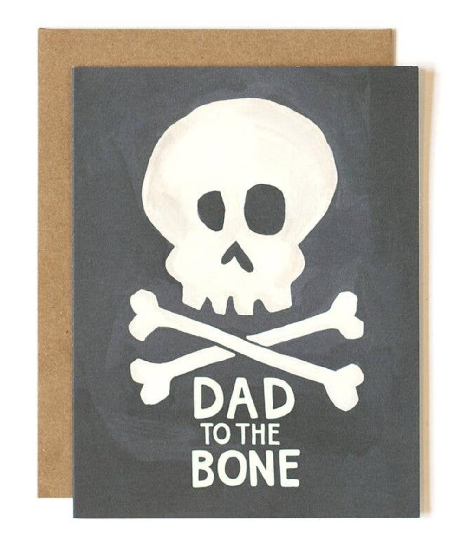 """Dad to the Bone,"" Blank Greeting Card"