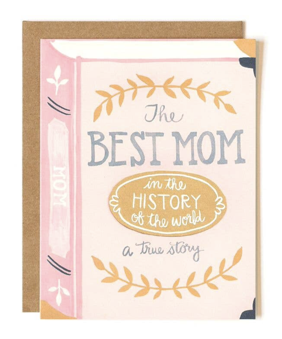 """Best Mom True Story,"" Blank Greeting Card"