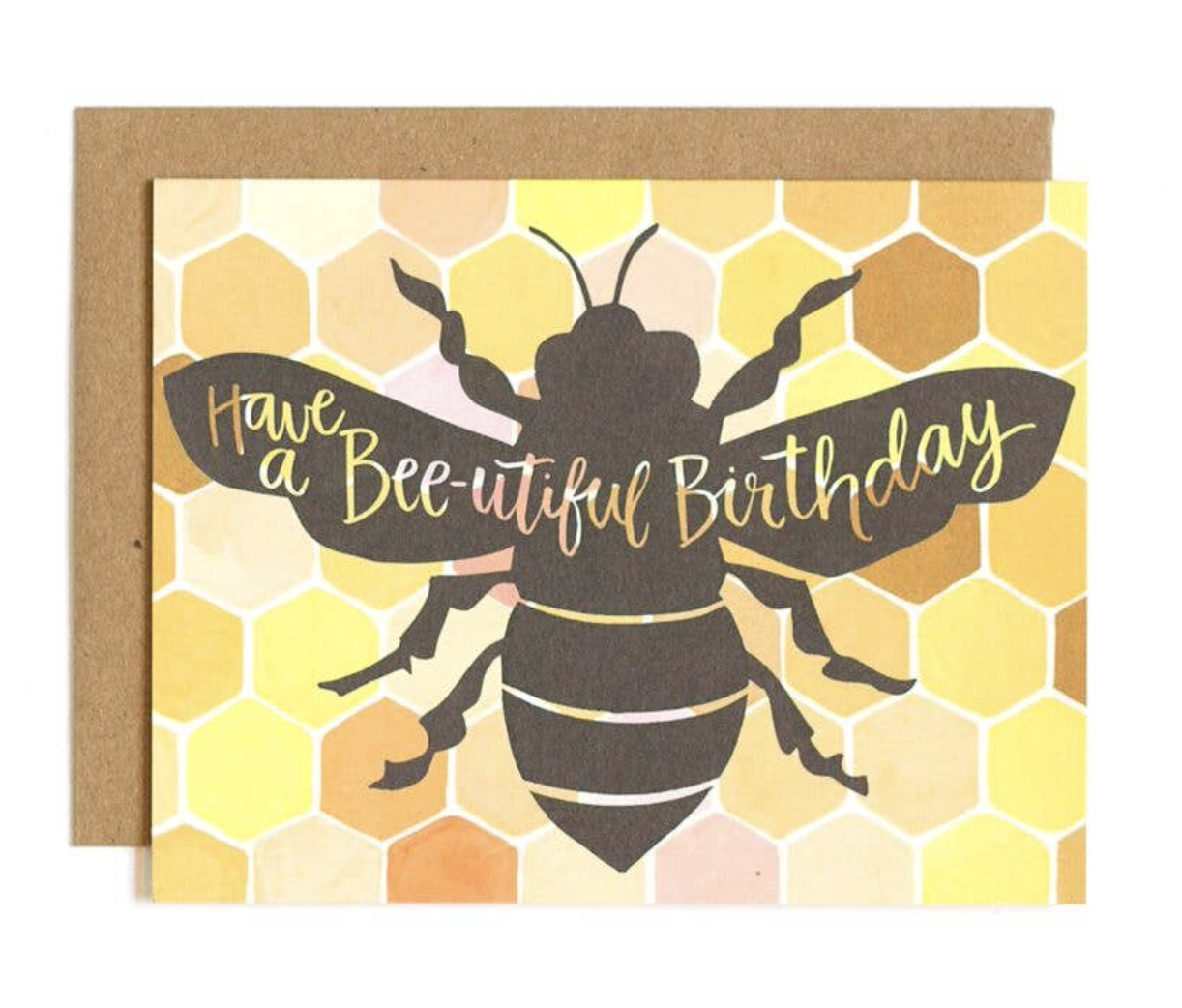 """Bee-utiful Birthday,"" Blank Greeting Card"