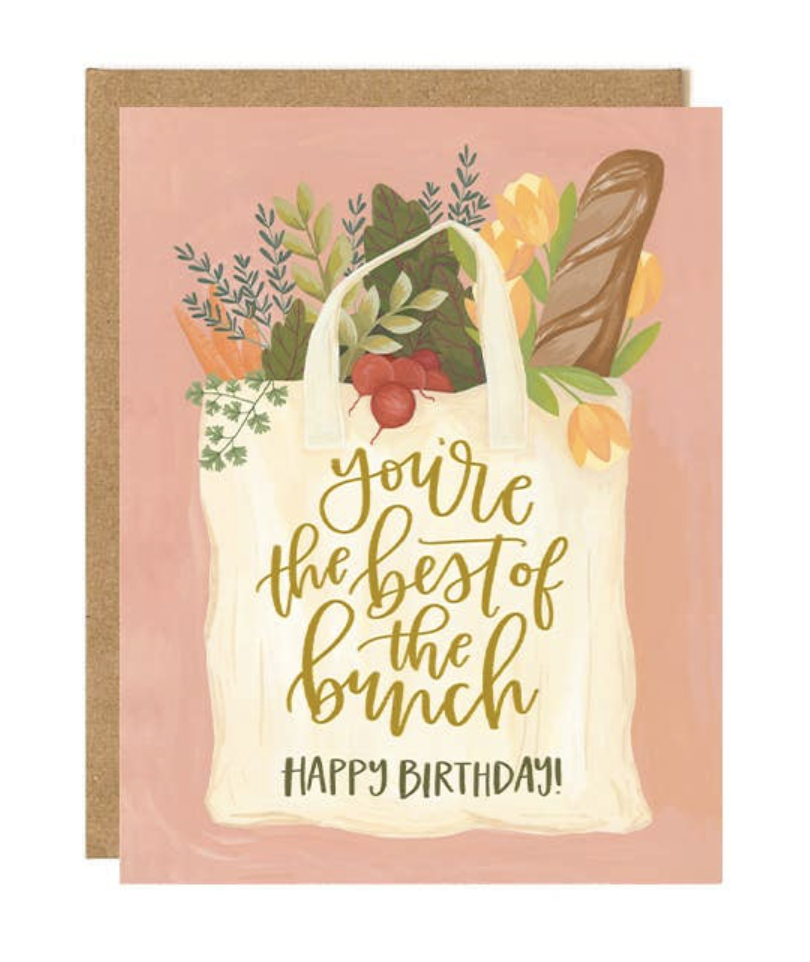 """Best of the Bunch HBD,"" Blank Greeting Card"