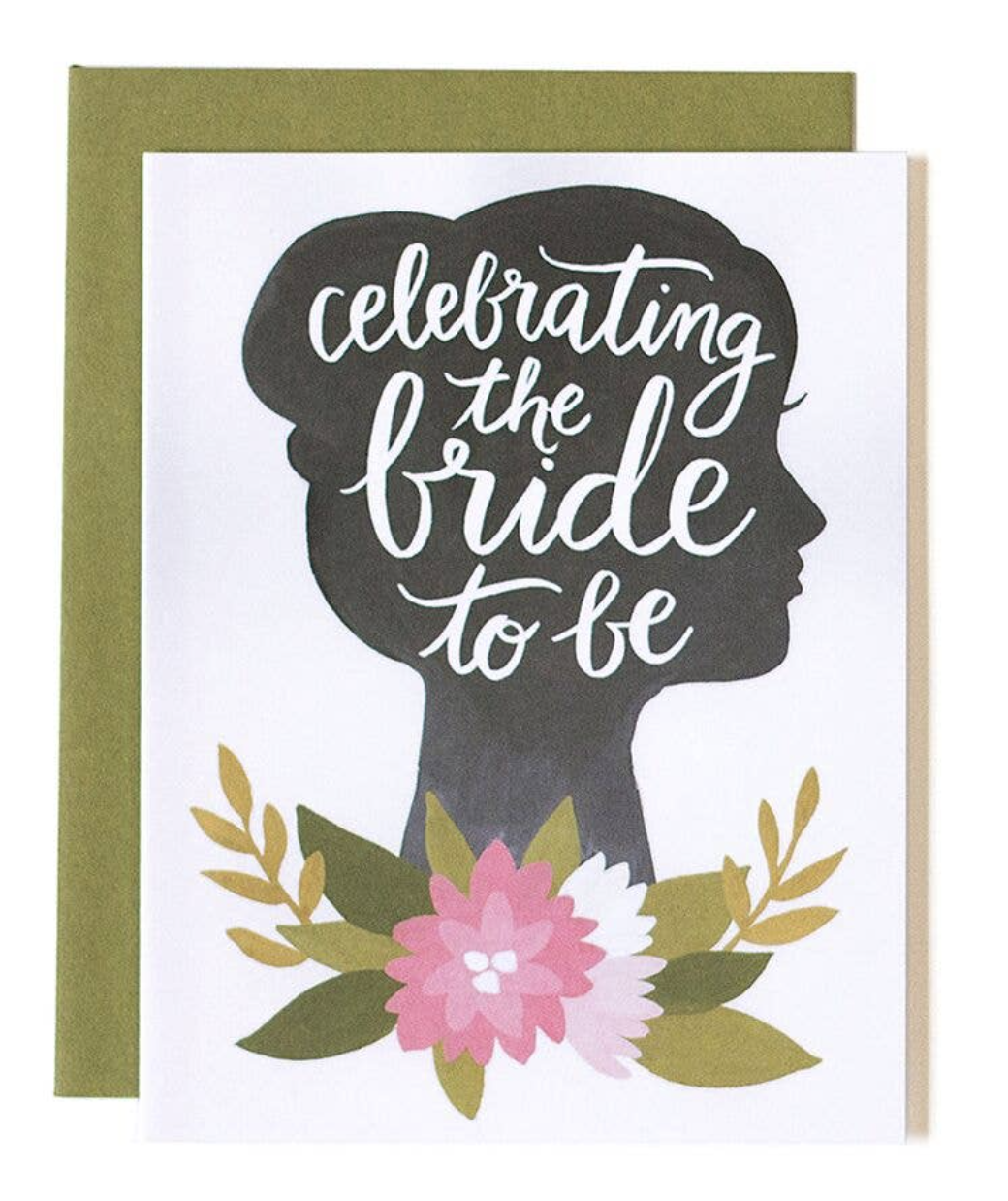 """""""Celebrating the Bride to Be,"""" Blank Greeting Card"""