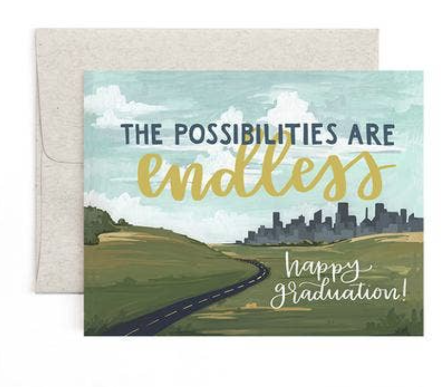 """""""Possibilities are Endless"""" Graduation, Blank Greeting Card"""