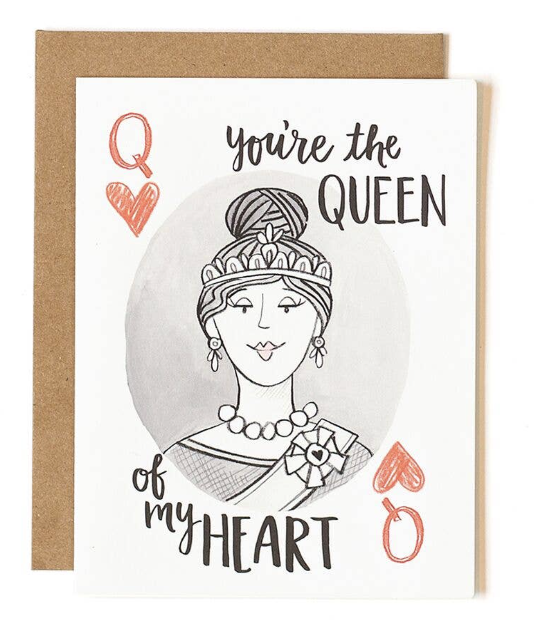 """""""Queen of my Heart,"""" Blank Greeting Card"""