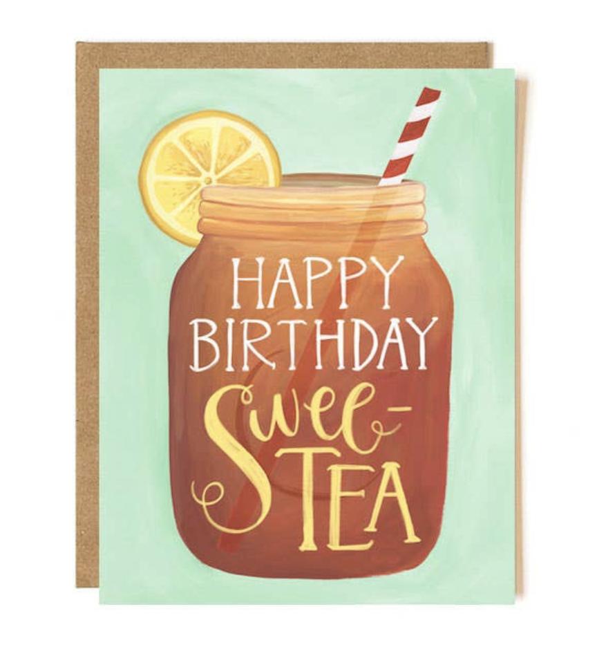 """HBD Swee-Tea,"" Blank Birthday Card"