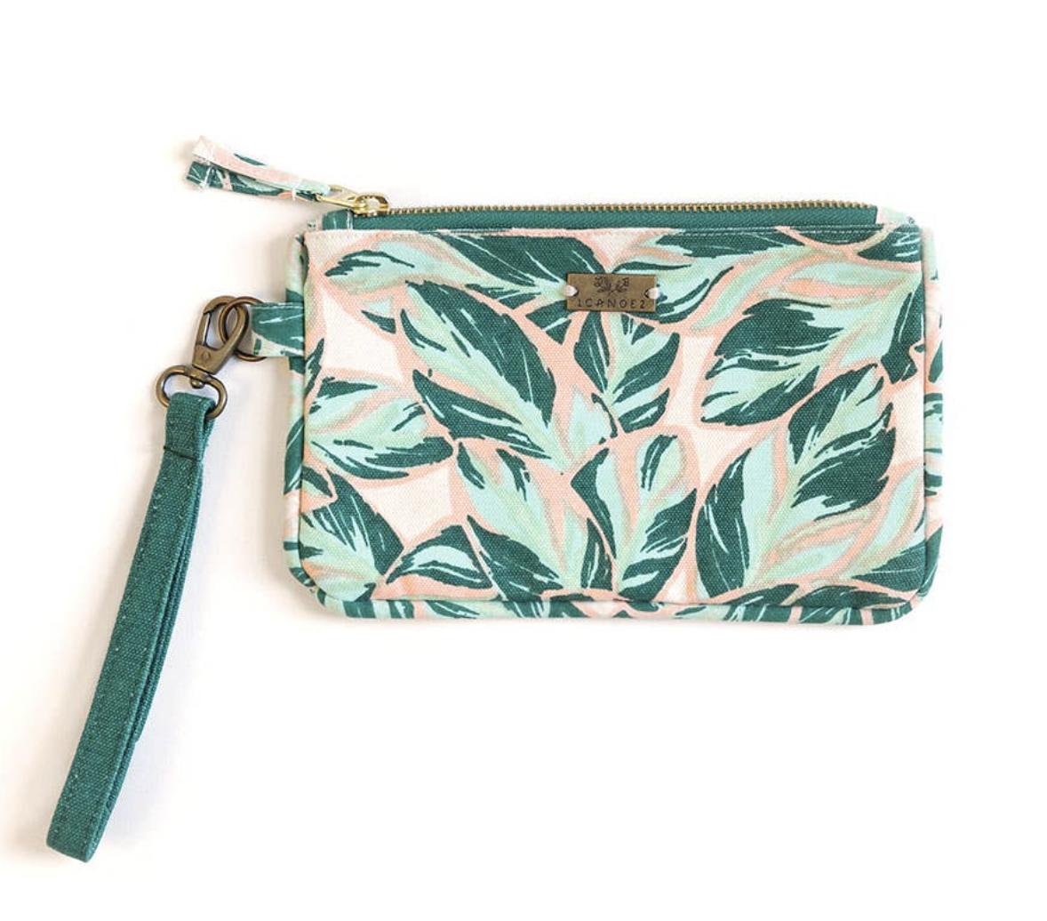 Highland Floral Zippered Clutch Bag