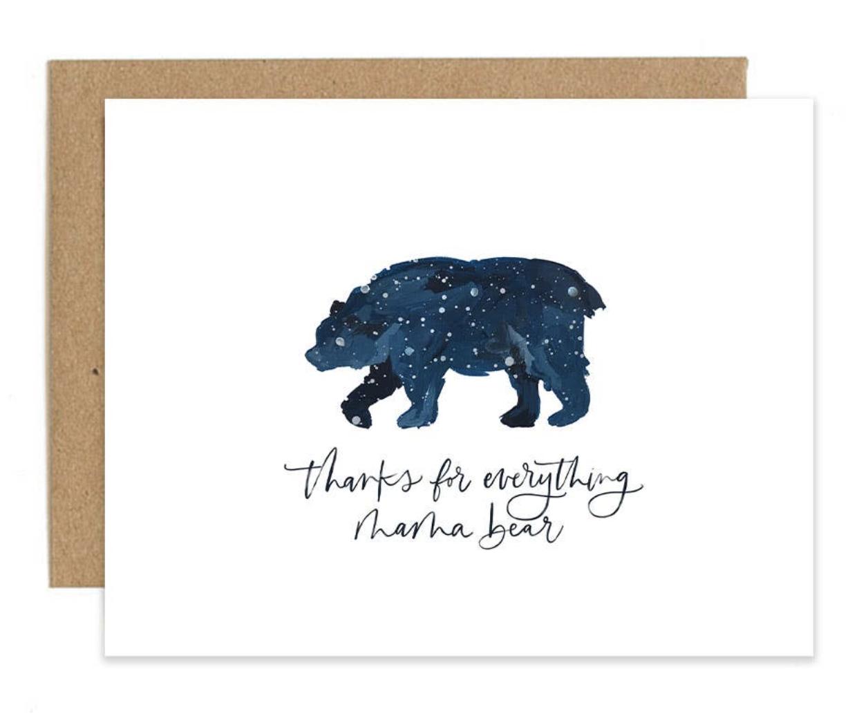 Mama Bear, Blank Greeting Card