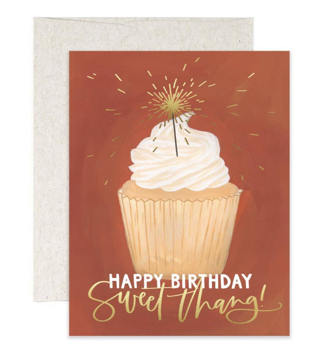 HBD Cupcake, Blank Greeting Card