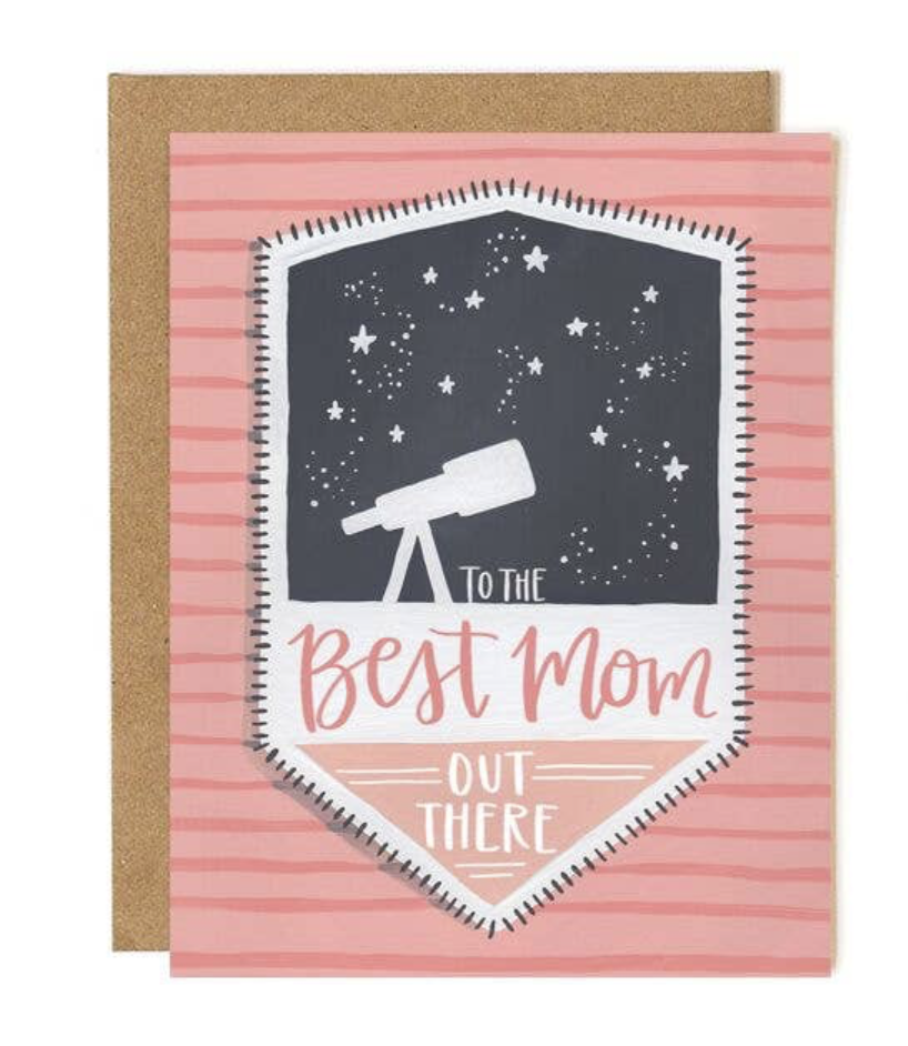"""Stargazing """"Best Mom Out There,"""" Blank Greeting Card"""