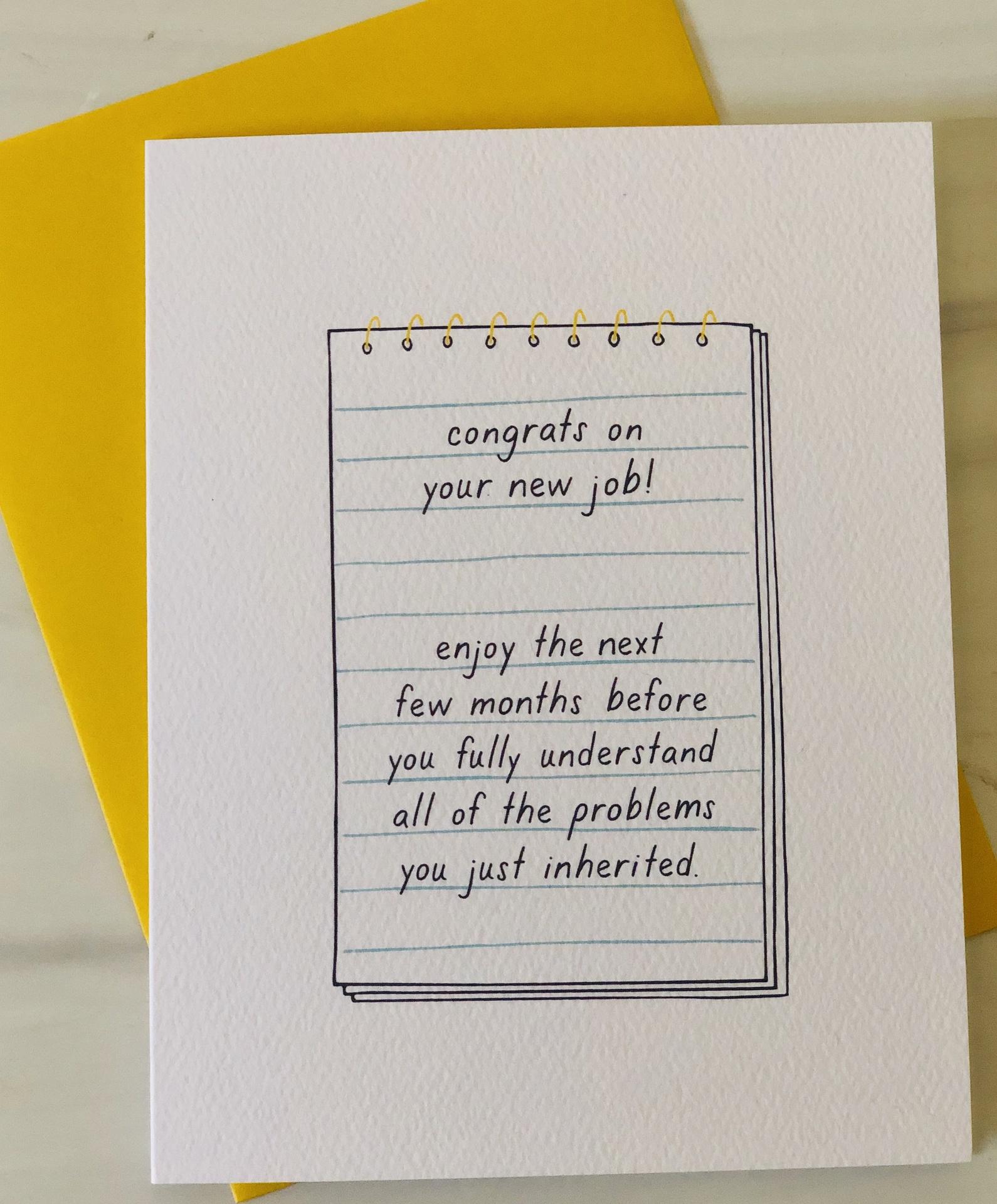 Congrats New Job, Blank Greeting Card
