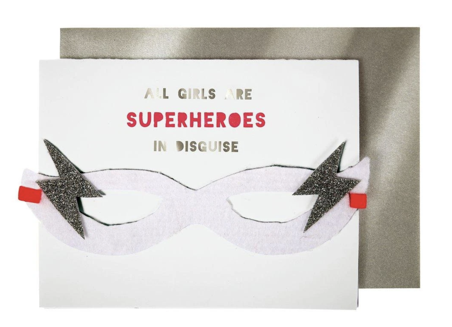 """""""All Girls are Superheroes,"""" Blank Greeting Card"""
