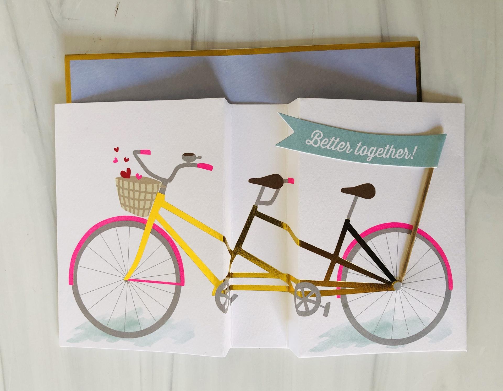 Bicycle Anniversary, Blank Greeting Card