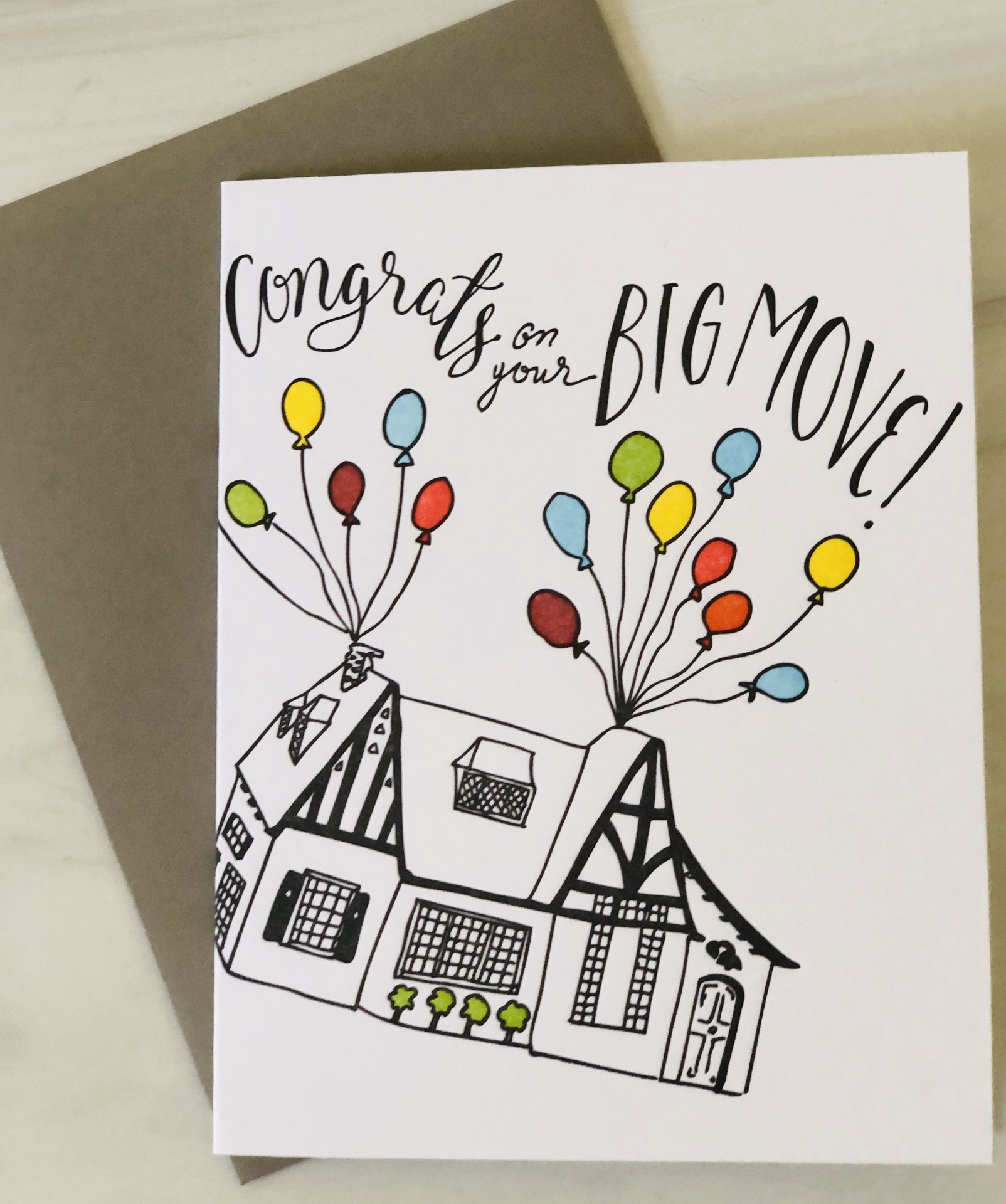 """""""Congrats on your Big Move,"""" Blank Greeting Card"""