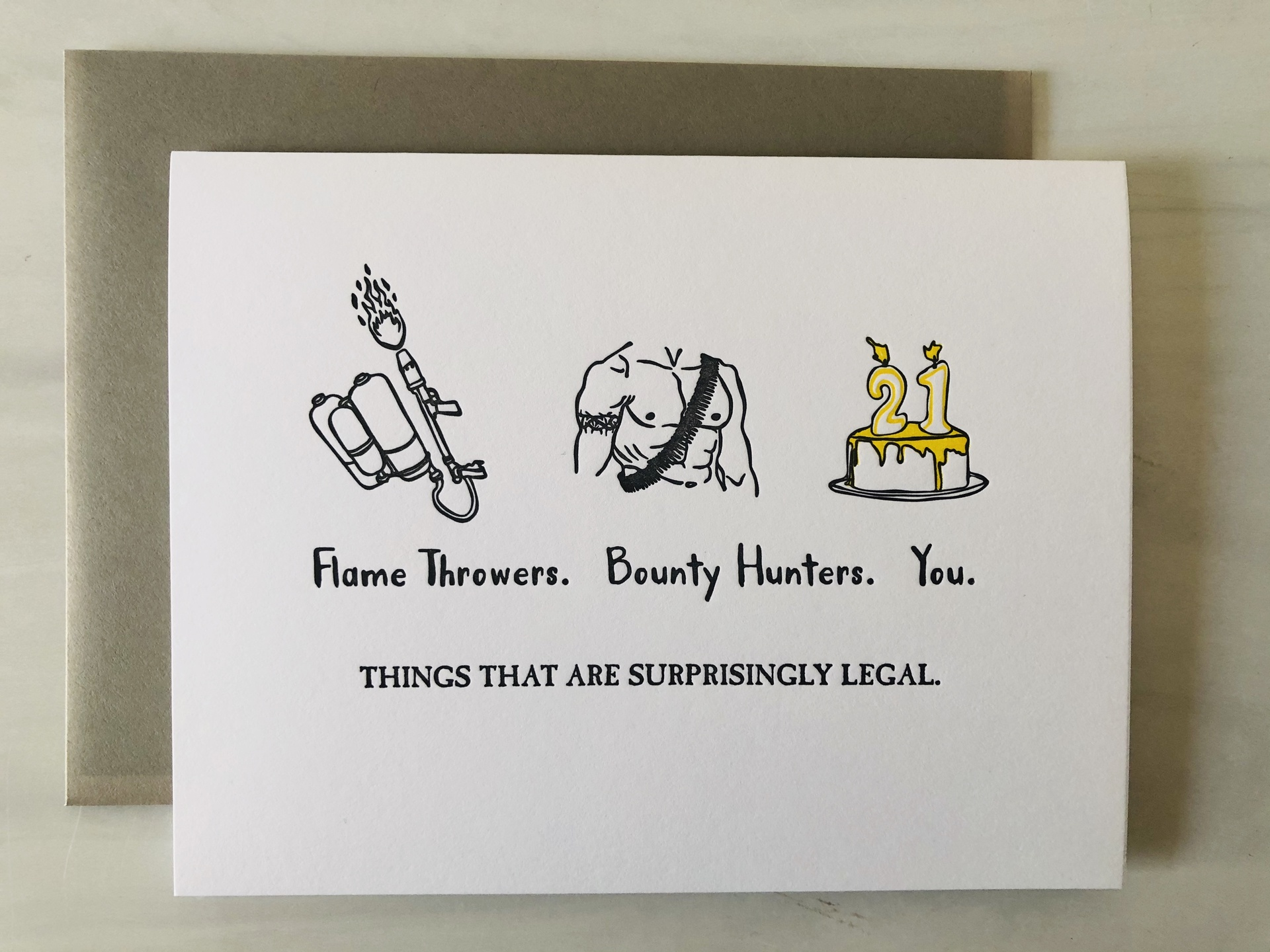 Surprisingly Legal, Blank Greeting Card