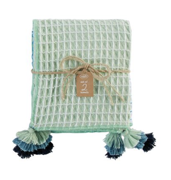 Waffle Tassel Towel Set