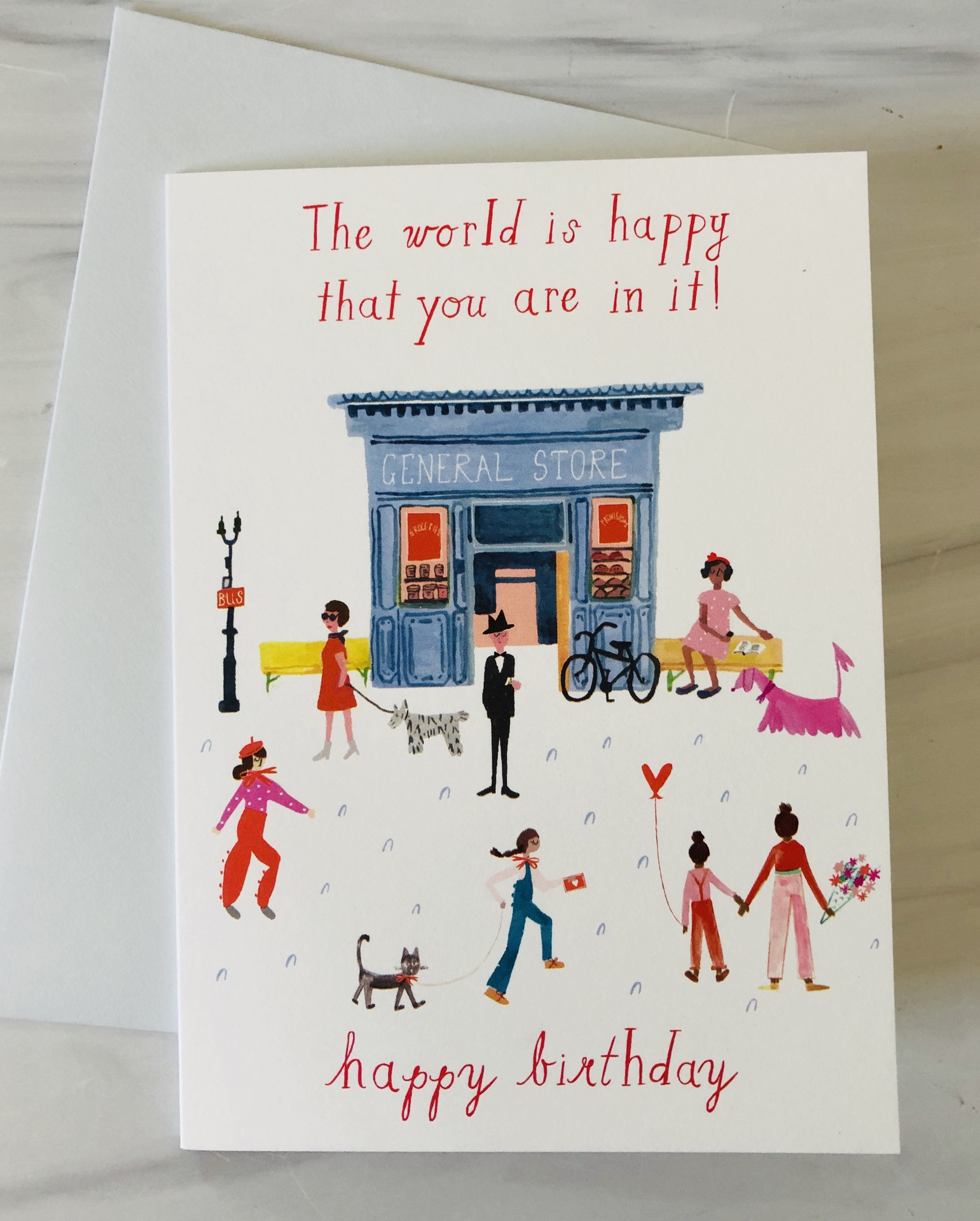 """""""Happy You're In It,"""" Birthday, Blank Greeting Card"""