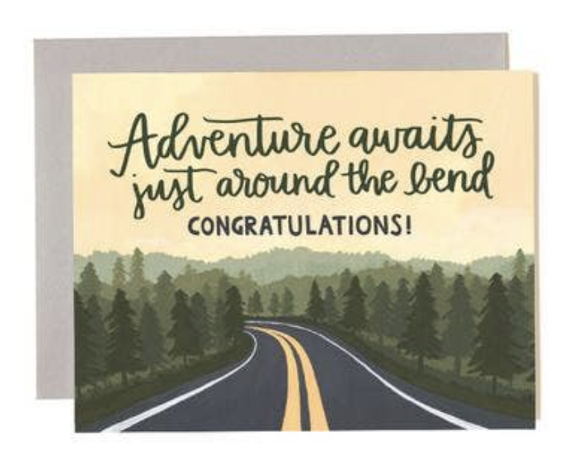 """Adventure Bend,"" Blank Greeting Card"