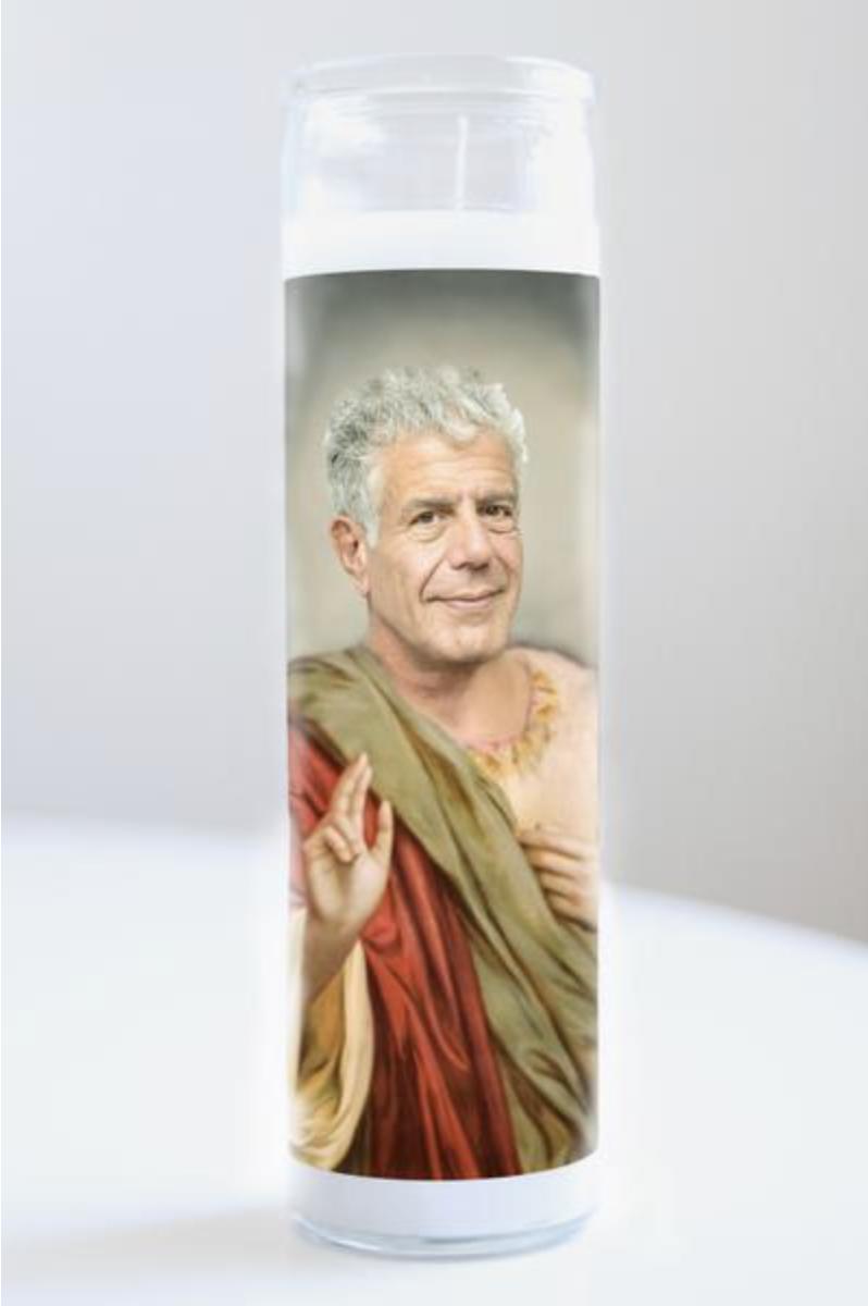 Anthony Bourdain Prayer Candle: Kitchen Saints Collection, 2 versions