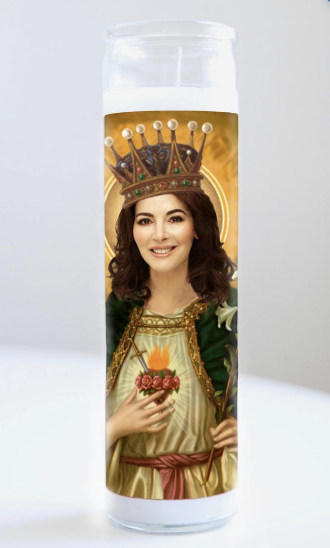 Nigella Lawson Prayer Candle: Kitchen Saints Collection