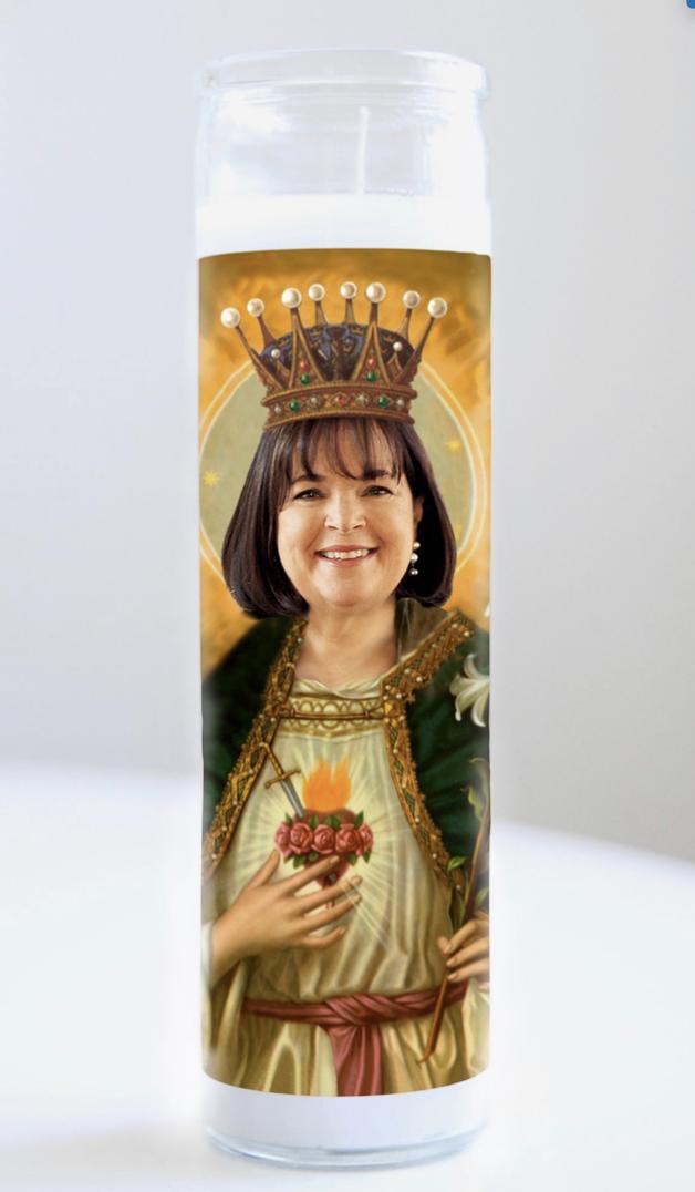 Ina Garten Prayer Candle: Kitchen Saints Collection