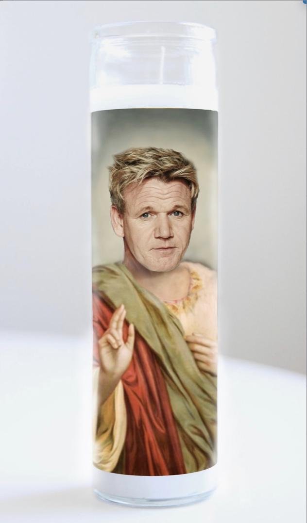 Gordon Ramsay Prayer Candle: Kitchen Saints Collection