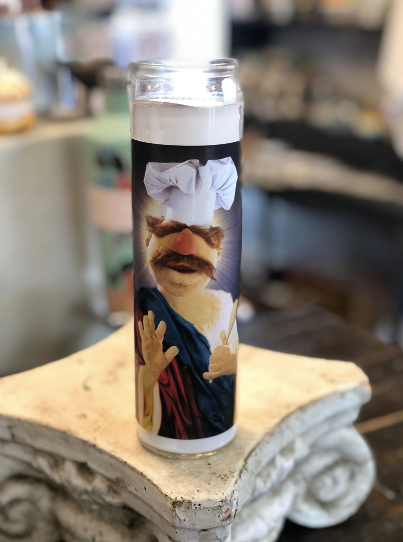 Swedish Chef Prayer Candle: Kitchen Saints Collection