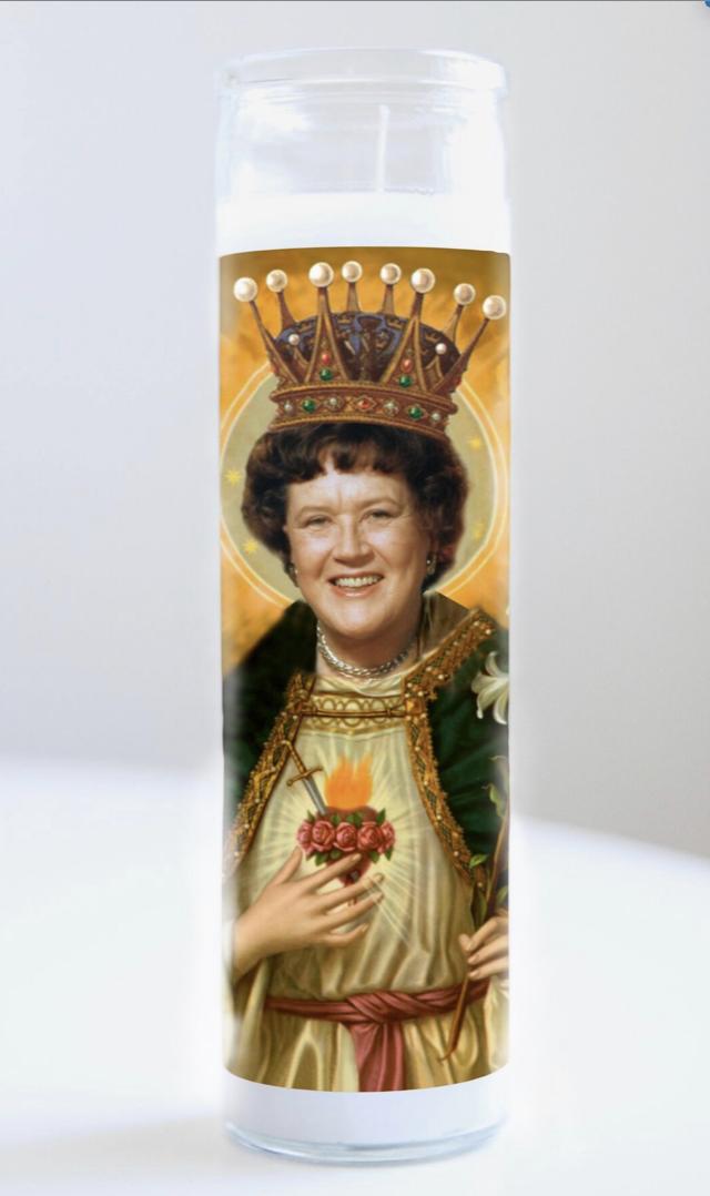 Julia Child Prayer Candle: Kitchen Saint Collections