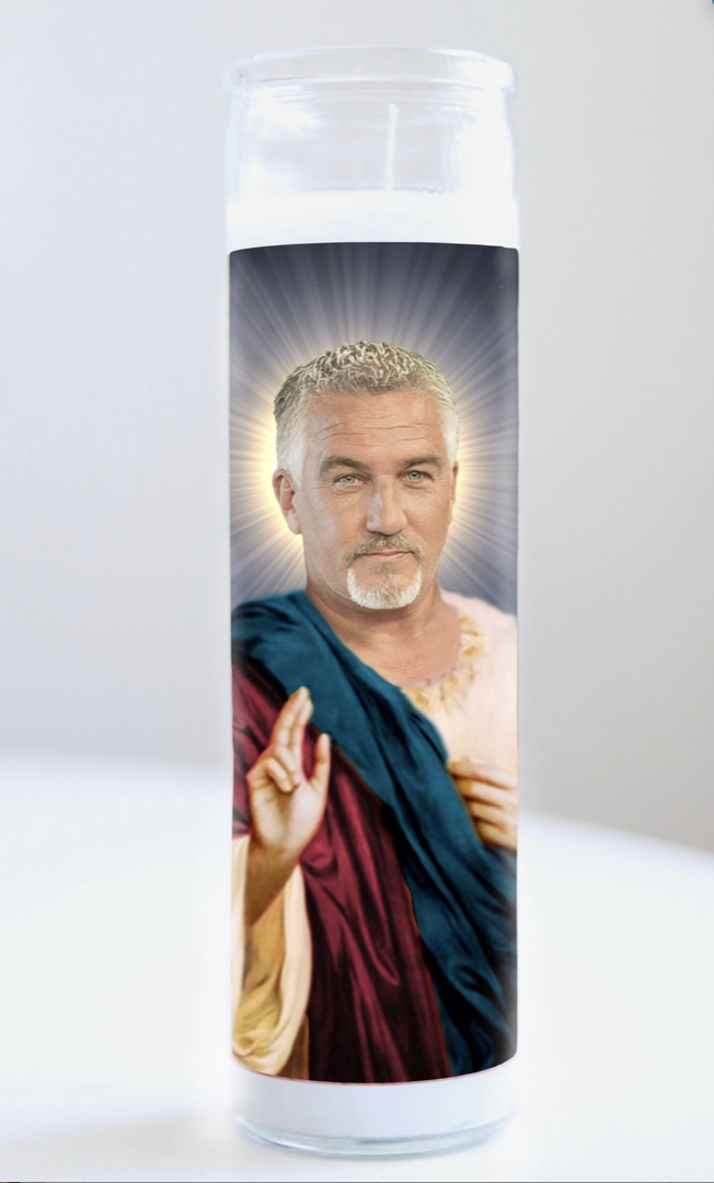 Paul Hollywood Prayer Candle: Kitchen Saints Collection