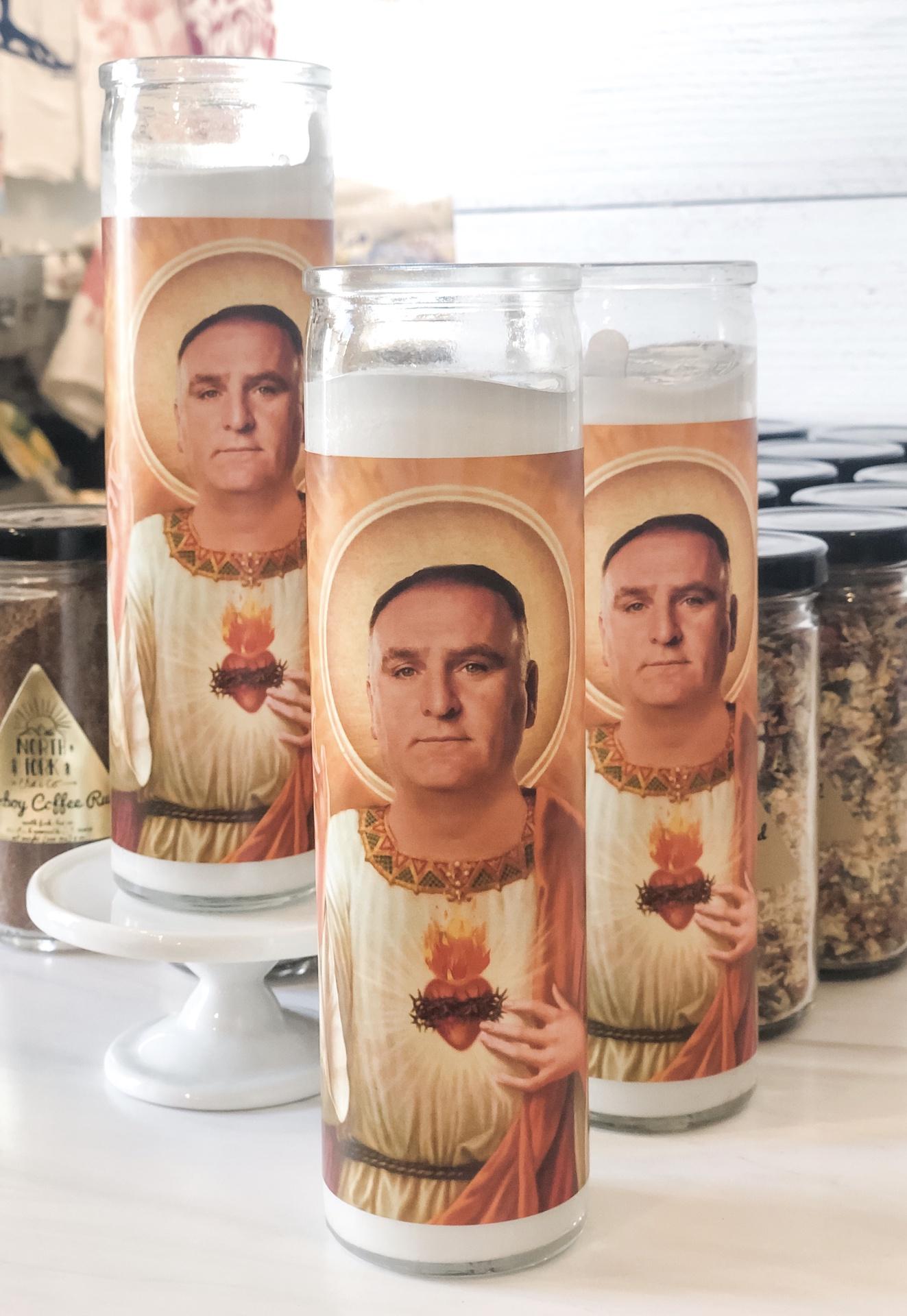 Jose Andrés Prayer Candle: Kitchen Saints Collection