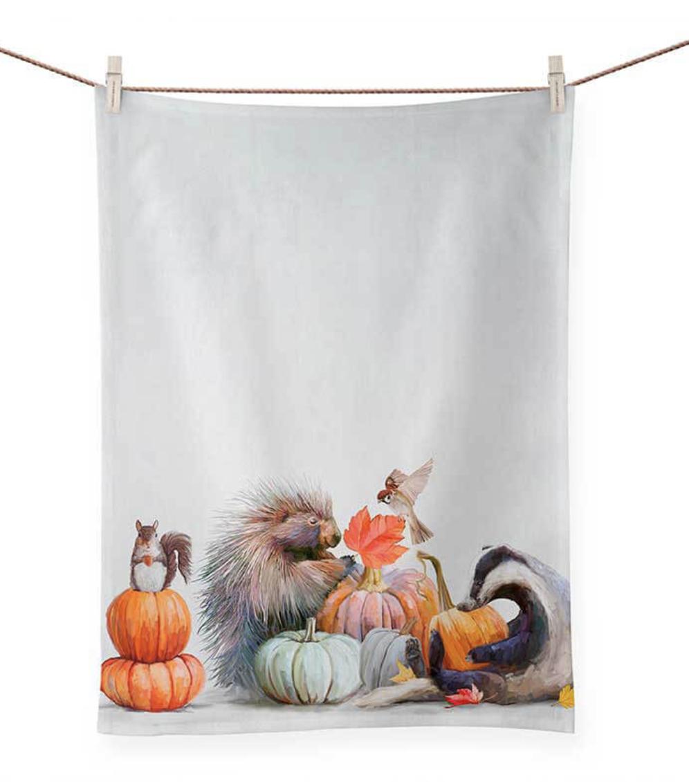 Pumpkin Pals Tea Towel
