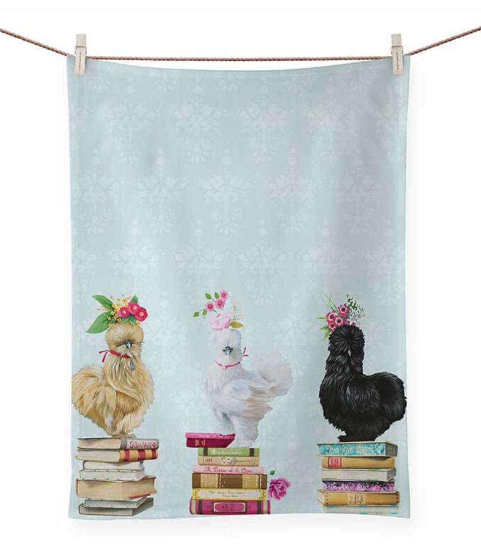Queens of the Book Club Tea Towel