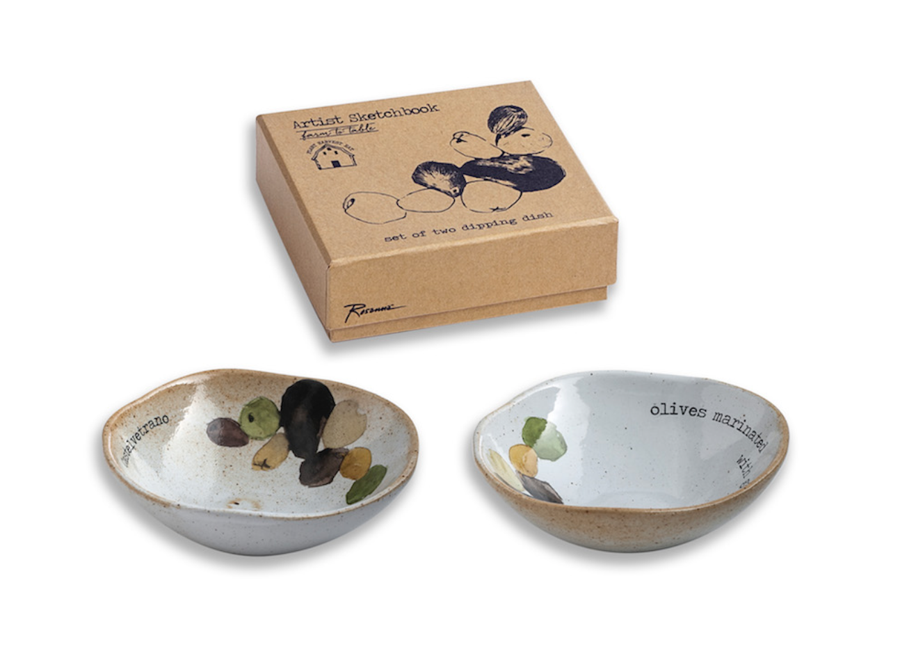 Farm to Table Olive Dipping Dishes, set/2