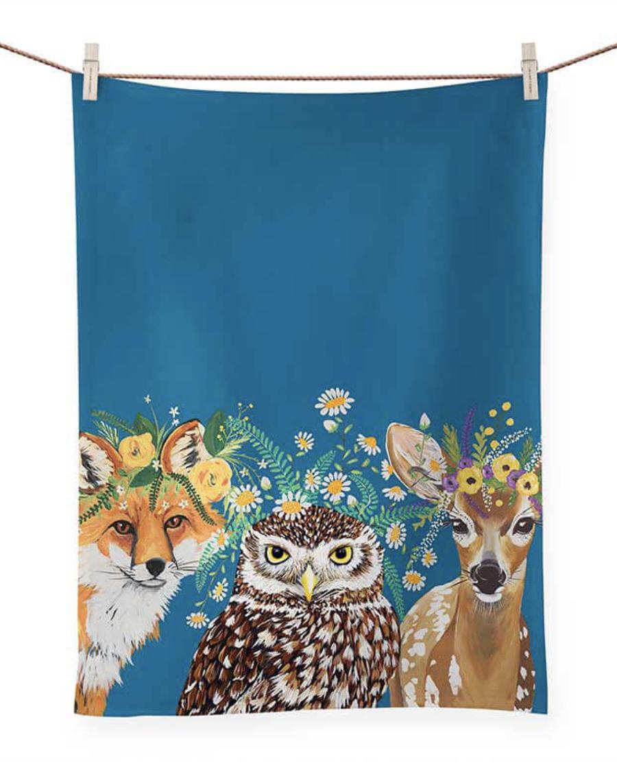 Flora & Fauna Tea Towel