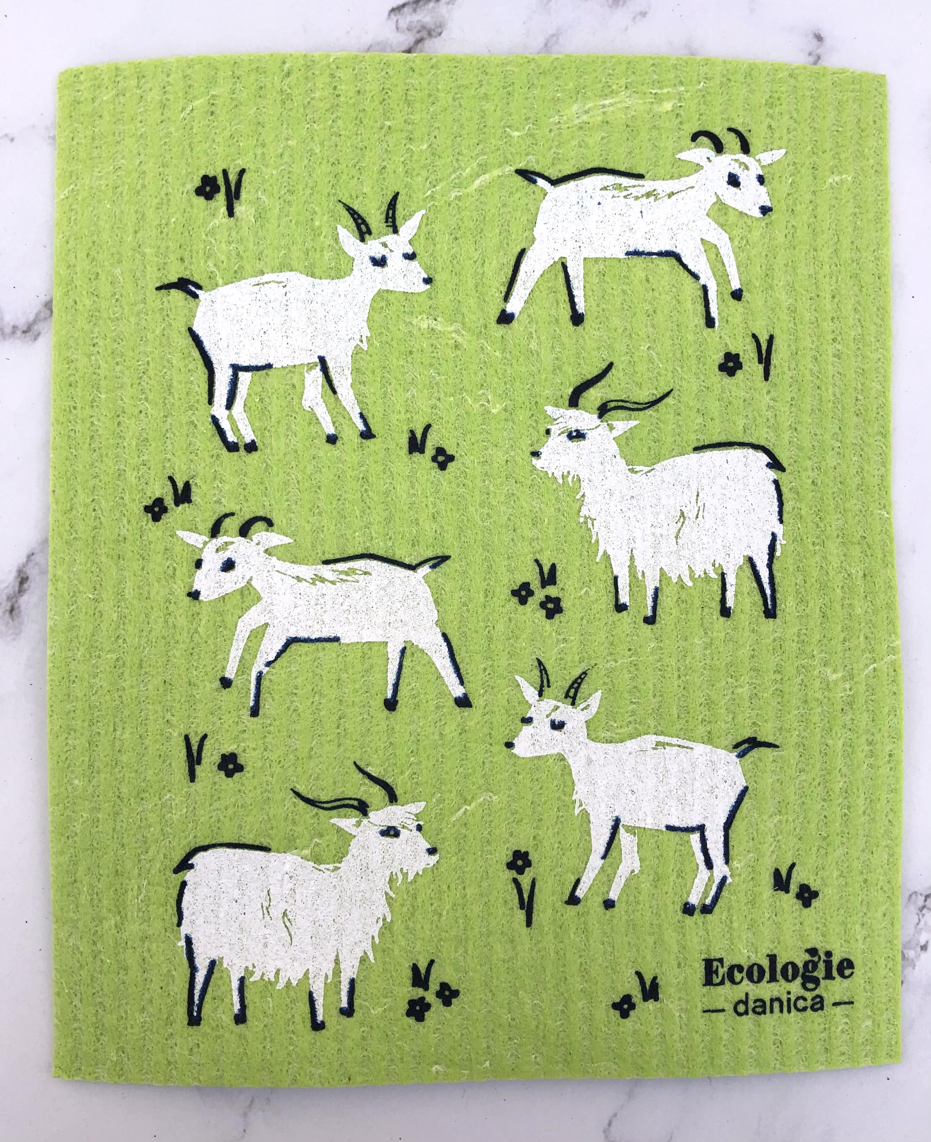 Swedish Dish Cloth: Happy Zoo--CHOOSE DESIGN