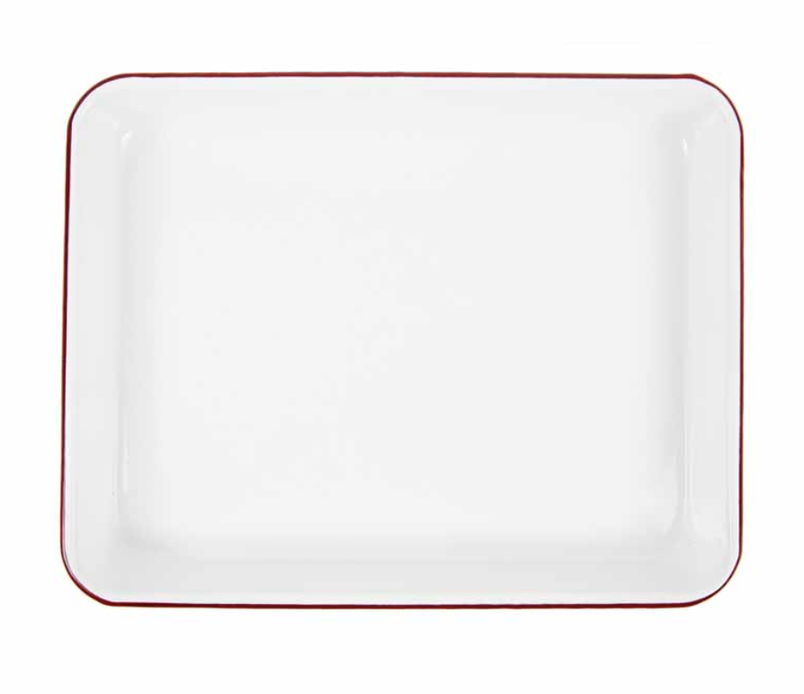 "Enamelware Rectangular Tray, 11""x8.5"""