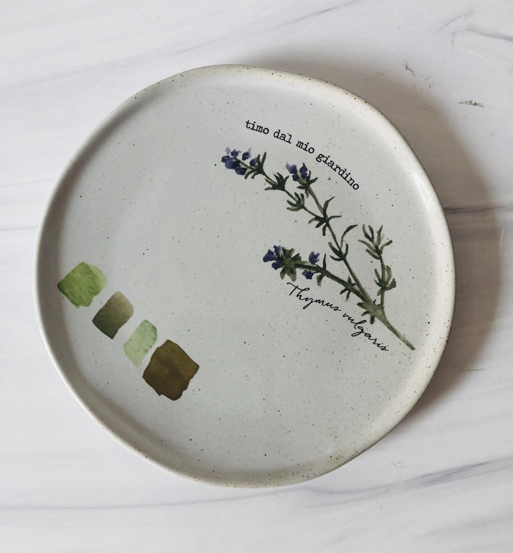 Farm to Table Herb Plates, Set/4