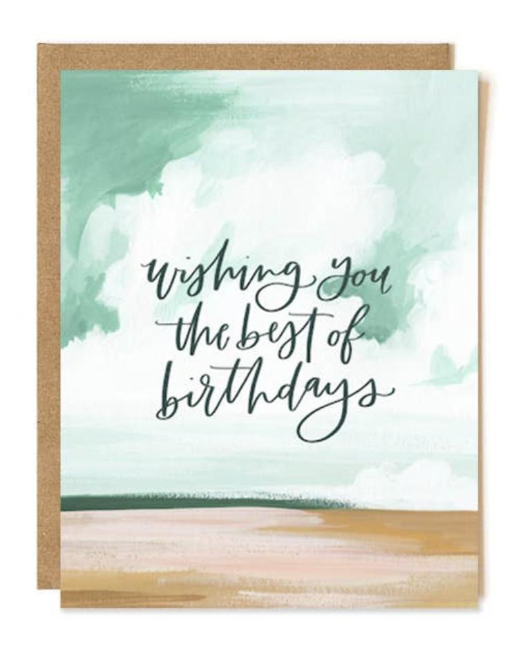 """Best of Birthdays,"" Blank Greeting Card"