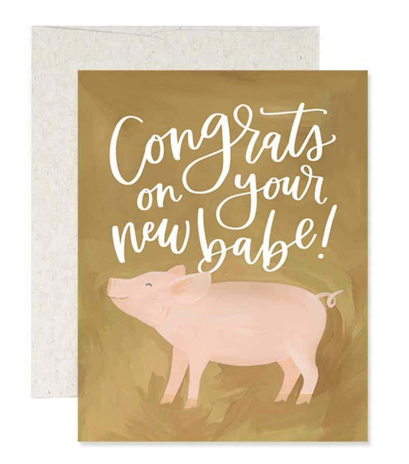 """""""New Babe,"""" Blank Greeting Card"""