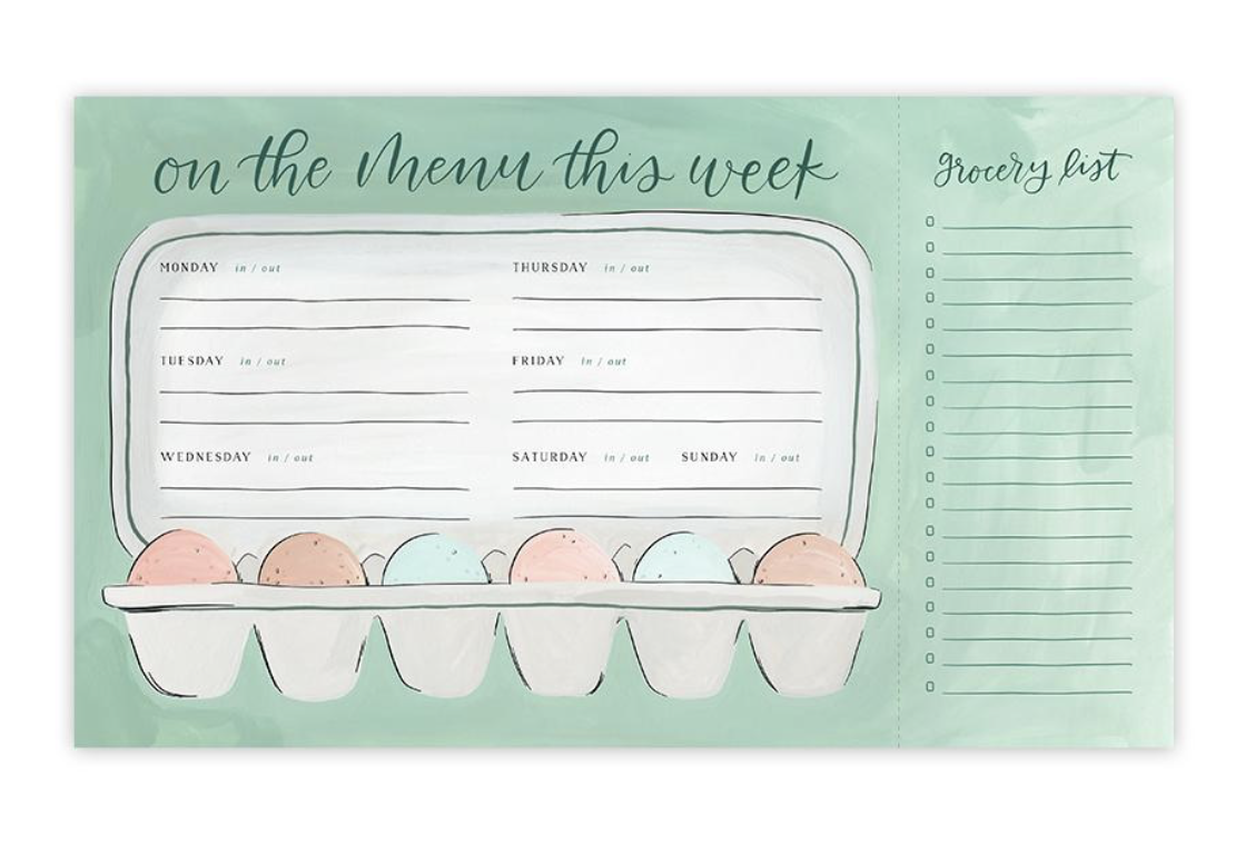 Egg Menu Planning Notepad